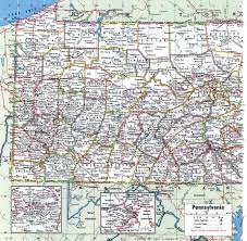 Pennsylvania Counties Map by Pennsylvania County Map