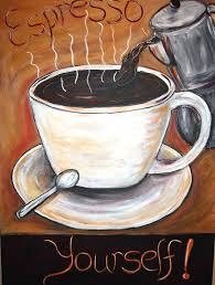 the modern artist coffee art coffee home decor espresso paintings