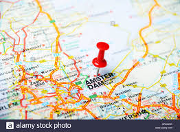 netherlands map up of amsterdam netherlands map with pin travel