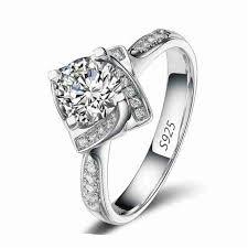 square rings jewelry images Square shape flower rose design wedding engagement rings for women jpg