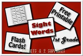 grade sight word flash cards printable 3 garnets 2 sapphires free printable 69 sight words flashcards