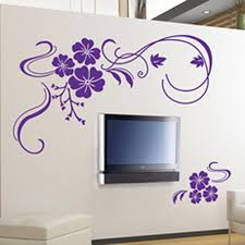 amazon com stylish modern flower wall stickers vinyl art decals amazon com stylish modern flower wall stickers vinyl art decals purple home kitchen