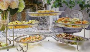 buffet server 5 station 3 tier catering
