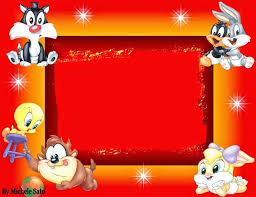 baby looney tunes free printable invitations cards