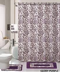 Purple And Gold Shower Curtain Amazon Com 18 Piece Bath Rug Silver Grey Gold Print Bathroom Rugs