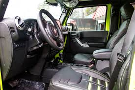 custom jeep interior 2017 jeep wrangler rubicon unlimited hyper green