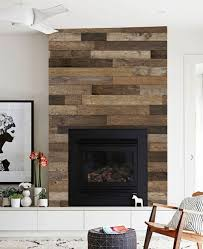 reclaimed wood accent mural wall art wallpaper peel and stick