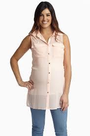 maternity nursing light pink chiffon button up maternity nursing tank top