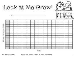 image result for goal tracking charts for second graders