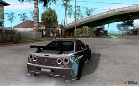 nissan skyline fast and furious 7 nissan skyline gt r r34 from fnf 4 for gta san andreas