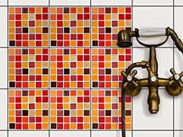 einfache wandgestaltung fliesen mosaik folie deko aufkleber für badfliesen und