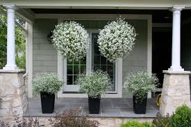 Shrubs For Patio Pots Curb Appeal 20 Modest Yet Gorgeous Front Yards Flower Basket