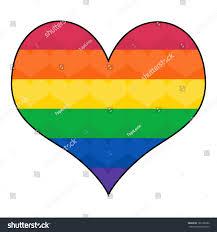 Flag Com Flag Colors Heart Shape Rainbow Stockillustration 185128382