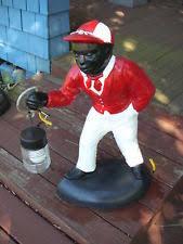 lawn jockey statues yard ebay