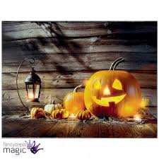 led light up canvas halloween pumpkin scene picture wall home