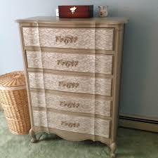 Painted Bedroom Dressers by Diy Lace Painted Bedroom Set U2014 Weekend Craft
