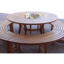 teak round table olga