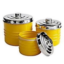yellow canister sets kitchen ransburg canister flowers flour canister farmhouse