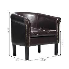 Elegant Modern Parsons Chair Leather Amazon Com Homcom Elegant Contemporary Pu Leather Tub Barrel