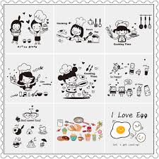 USD 6 00] Removable wall stickers restaurant kitchen tile wall