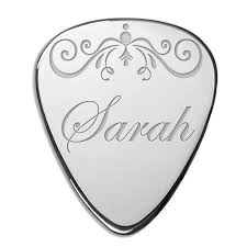 personalized gift custom engraved metal with ornament
