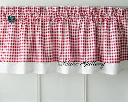Gingham Curtains Pink by Curtain Red White Check Gingham Double Layered By Idahogallery