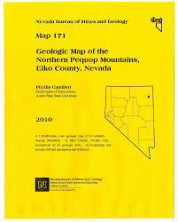 State Of Nevada Map by Geologic Map Of The Northern Pequop Mountains Elko County Nevada