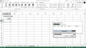 how to use the watch window in excel youtube