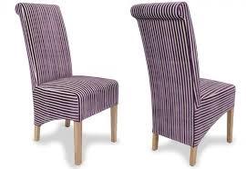 Aubergine Dining Chairs Shankar Krista Jupiter Dining Chairs Oak Legs Stripe