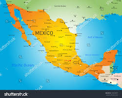 Map Mexico Abstract Vector Color Map Mexico Country Stock Vector 192502859
