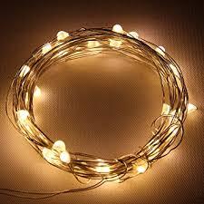 starlight led christmas lights amazon com starlight 25ft led string lights silver flexible wire