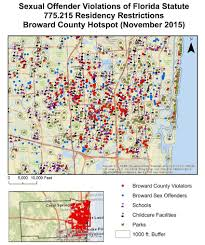 Zip Code Map Broward by Exploring The Geography Of Sexual Offender Residency Exploring The