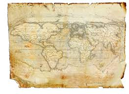 drawn map christopher columbus pencil and in color drawn map