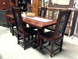 Unfinished Wood Chairs Dining Table Long Wood Dining Room Tables Extra Large Rustic