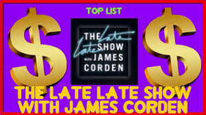 how much the late late show with james corden made money on