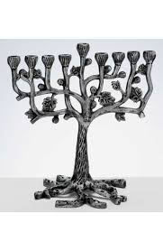 tree of menorah aluminum tree menorah with leaves