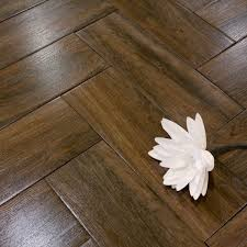 Kitchen Laminate Flooring Tile Effect A Dark Brown Wood Effect Ceramic Tile With A Very Convincing Wood