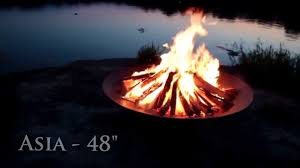 48 Inch Fire Pit by Fire Pit Art Asia 48 Inch Fire Pit Thefirepitstore Com Youtube