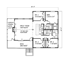 Floor Plans For Beach Houses by Beach Style House Plan 4 Beds 2 00 Baths 1600 Sq Ft Plan 307 102