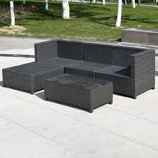 Mesh Patio Table by Gym Equipment Outdoor Furniture Set Pe Wicker Rattan Sectional