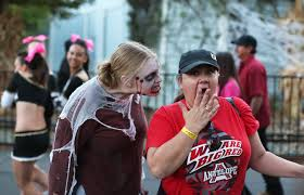 Six Flags Discovery Kingdom Discounts Zombie Actors Look To Scare Humans In Six Flags Invasion