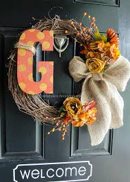 diy home decor diy fall crafts diy monogram fall wreath mine