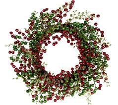 berry wreath 22 glitter berry wreath by valerie page 1 qvc