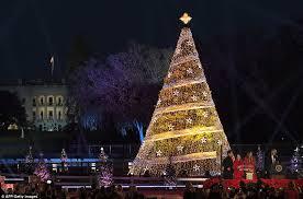 Christmas Tree Made Of Christmas Lights - donald trump and melania light the national christmas tree daily