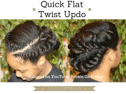 Chunky Flat Twist Hairstyles by Quick Flat Twist Updo Natural Hair Tutorial Brown Girls Style