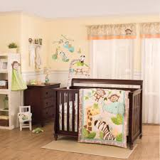 Pink And Brown Curtains For Nursery by Baby Nursery Baby Room Decoration With Dark Brown Wooden Bed Frame