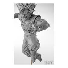 son goku super saiyan 2 dragon ball z scultures grey version