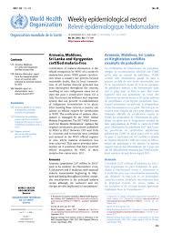 bureau int r weekly epidemiological record wer 29 september 2017 vol 92 no