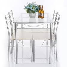 glass dining room table set glass dining room table set 52 for small home decoration