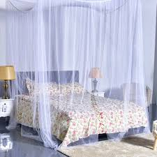 Mosquito Net Bed Canopy 4 Corner Post Bed Canopy Mosquito Net King Size Netting